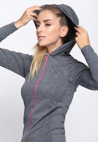 Szaro-Różowa Bluza Dresowa Be Stronger