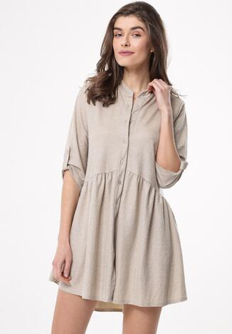 3483eb6025 Beżowa Sukienka Convolutions