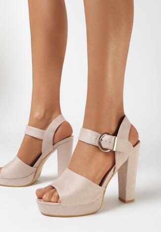 Beżowe Sandały Minuscule