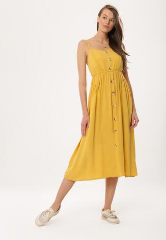 0b4f7861bb Żółta Sukienka Homoatomic