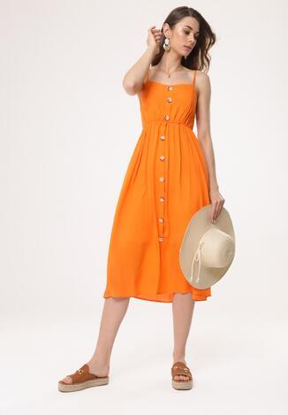 dc4cc8a5ac Pomarańczowa Sukienka Homoatomic