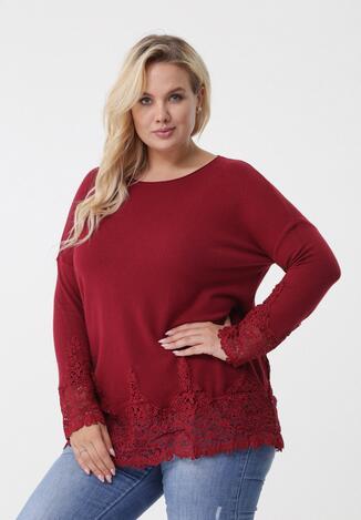 Bordowy Sweter Missfortune