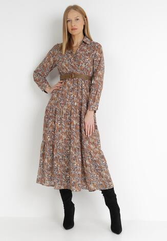 Ciemnobeżowa Sukienka Epicenter