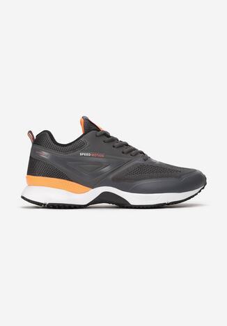 Szaro-Pomarańczowe Buty Sportowe Nimrah