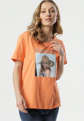 Pomarańczowy T-shirt Mystise