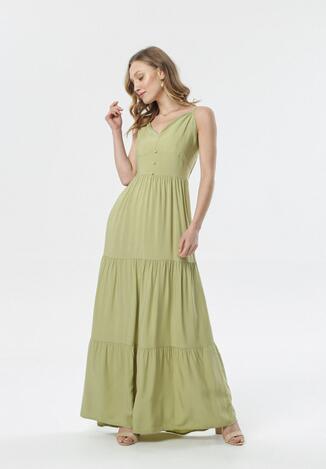 Jasnozielona Sukienka Daeimene