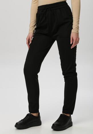 Czarne Spodnie Dresowe Mirama