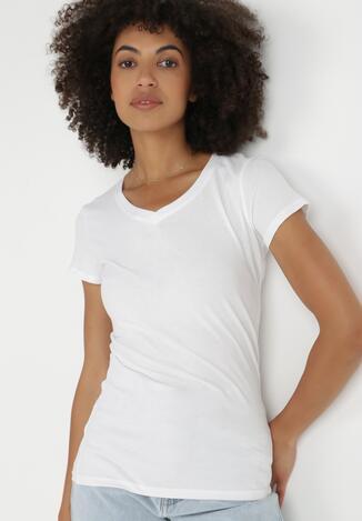 Biały T-shirt Nysalphia