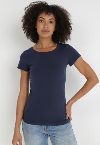 Granatowy T-shirt Gathanthei