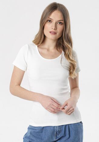 Kremowy T-shirt Ananore