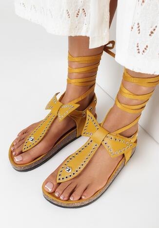 Żółte Sandały Adririal