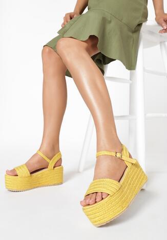 Żółte Sandały Muriegune