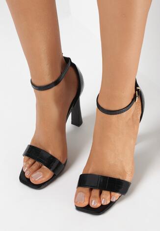 Czarne Sandały Pasixera