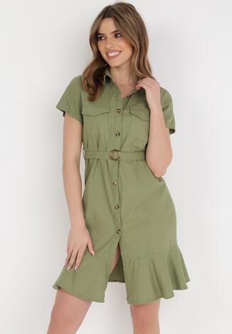 Zielona Sukienka Aquilila