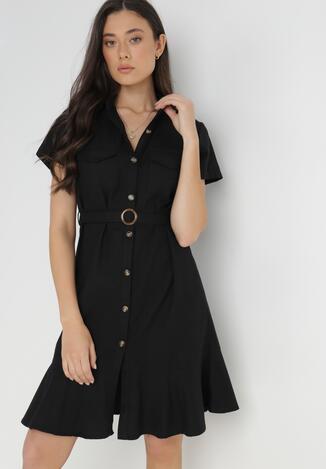 Czarna Sukienka Aquilila