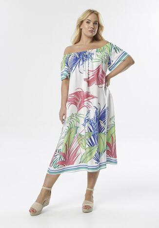 Biała Sukienka Menome