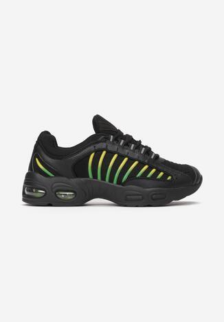 Czarno-Zielone Buty Sportowe Chaliria