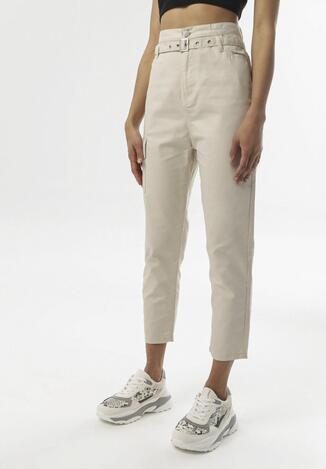 Beżowe Spodnie Ialira