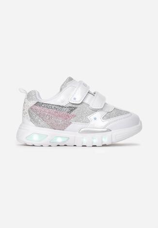 Białe Buty Sportowe LED Kelacine