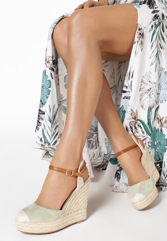 Miętowe Sandały Cordenne