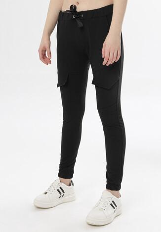 Czarne Spodnie Dresowe Aelle