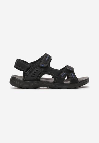 Czarno-Niebieskie Sandały Undilyn