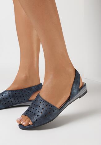 Granatowe Sandały Dorysis