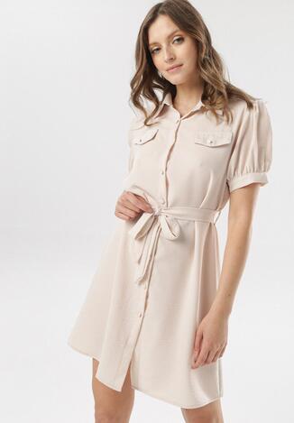 Jasnobeżowa Sukienka Therisa