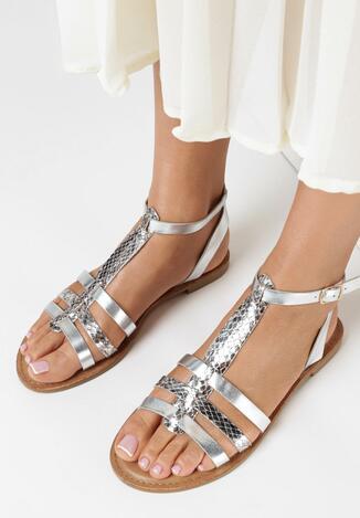 Srebrne Sandały Salorise