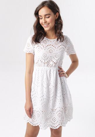Biała Sukienka Meririna