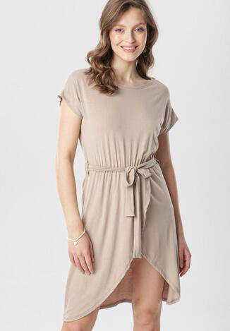 Jasnobeżowa Sukienka Callithera