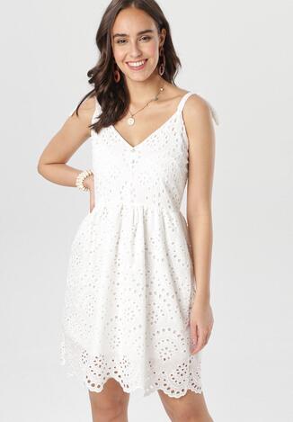 Biała Sukienka Zhalin