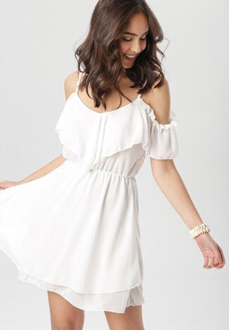 Biała Sukienka Adriaguna