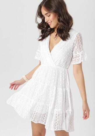 Biała Sukienka Heligina