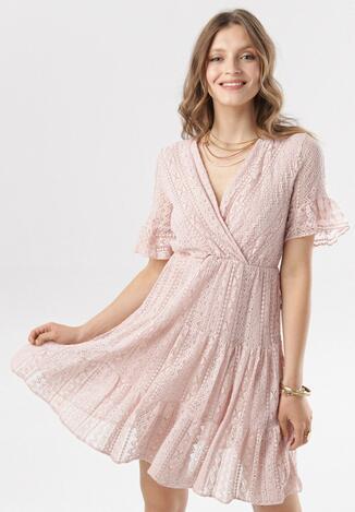 Różowa Sukienka Heligina