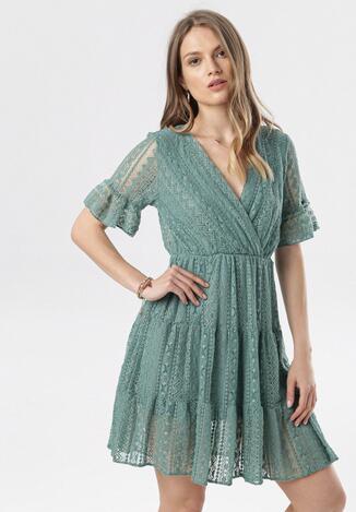 Zielona Sukienka Heligina