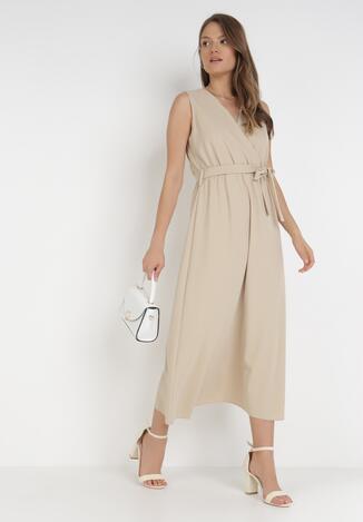 Beżowa Sukienka Ocearith