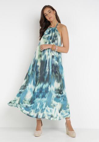 Niebieska Sukienka Daeisa