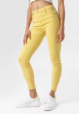 Żółte Spodnie Skinny Calyrei