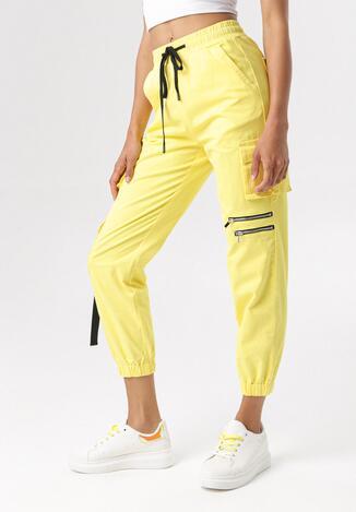 Żółte Spodnie Bojówki Petothilei