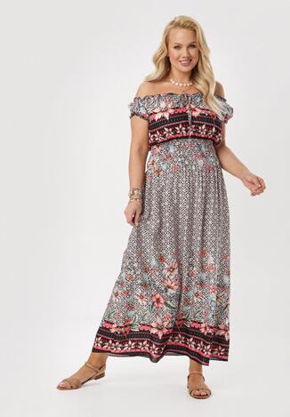 Czarno-Różowa Sukienka Nahnia