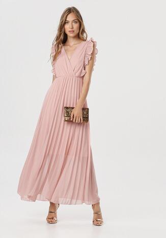 Różowa Sukienka Elulia
