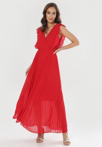 Czerwona Sukienka Elulia