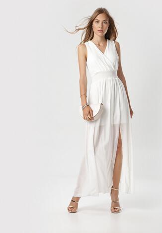 Biała Sukienka Corarena