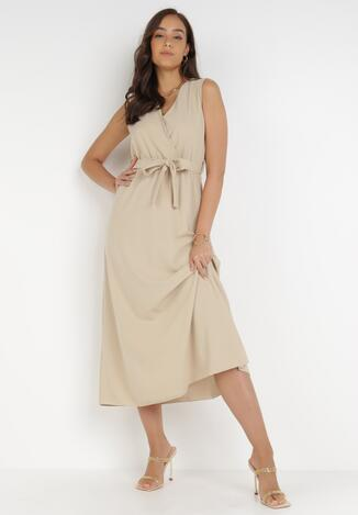 Jasnobeżowa Sukienka Ocearith