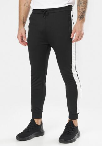 Czarno-Białe Spodnie Clysiphe