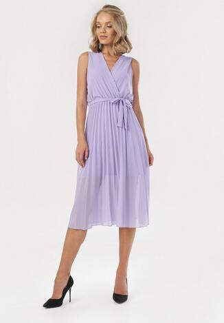 Fioletowa Sukienka Thessadah