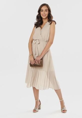 Beżowa Sukienka Thessadah