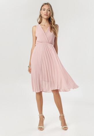 Różowa Sukienka Loragena