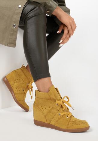 Żółte Sneakersy Assala